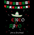 national colors cinco de mayo fiesta poster vector image