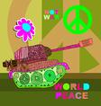 No war Postcard poster hippie background world vector image vector image