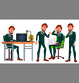 office worker business human poses vector image vector image