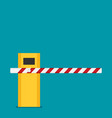 parking barrier gate in flat style vector image