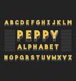 peppy bold font alphabet vector image