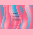 pink and blue abstract background with waves vector image
