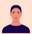 portrait a woman vector image vector image