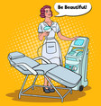 professional skin treatment beauty clinic pop art vector image