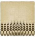ripe wheat ears old background vector image