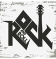 rock music print vector image vector image