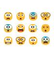 scared emoticon faces vector image vector image