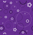 seamless violet pattern with doodles vector image vector image