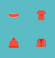 set of dress icons flat style symbols with jacket vector image