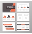 Set of red and gray template for multipurpose vector image vector image