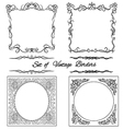Set of square Vintage borders10 vector image vector image