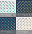 Set of the round segmented charts in flat style vector image vector image