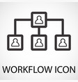 simple workflow line art icon vector image