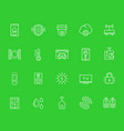 smart house home automation system icons set vector image