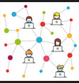 social network flat vector image vector image