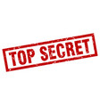 square grunge red top secret stamp vector image vector image