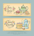 vintage posters bakery and tea vector image