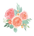 watercolor florals hand painted bouquets lush vector image vector image