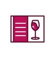 wine glass menu restaurant celebration drink vector image vector image