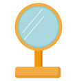 yellow mirror on white background vector image vector image