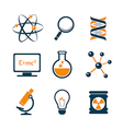 Chemistry and bio technology icons vector image