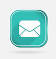 postal envelope Color square icon vector image