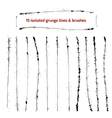 Set of isolated grunge lines and brushes vector image