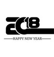 2018 happy new year black simple style five vector image vector image