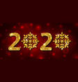 2020 text golden glitter template for happy new vector image vector image