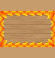 autumnal leaf of chestnut vector image
