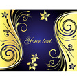 Blue and Gold Floral Design vector image vector image
