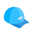 Blue baseball hat isometric 3d icon vector image