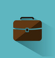 briefcase icon with color and shadow on blue vector image vector image