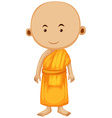 Buddhist monk standing alone vector image