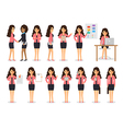 Business woman characters vector image