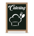 catering service restaurant hat chef board vector image