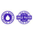 child water grunge stamp seals vector image vector image