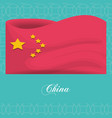 china flag cultural icon vector image