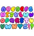 comic bubble alphabet vector image
