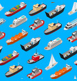 commercial sea ships signs 3d seamless pattern vector image vector image