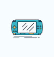 console device game gaming psp flat icon green vector image vector image