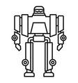 cyborg robot transformer icon outline style vector image vector image