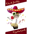 Day of the Dead Skull Mexican Hat Dia de Muertos vector image vector image