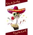 Day of the Dead Skull Mexican Hat Dia de Muertos vector image vector image