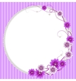 Delicate frame with mallow flowers and pearls vector image vector image