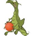 Dragon the basketball player vector image vector image