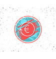 euro money exchange line icon banking currency vector image vector image