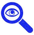 eye explore grunge icon vector image