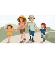 Family walk in the park vector image vector image