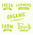 farmers market logos templates vector image